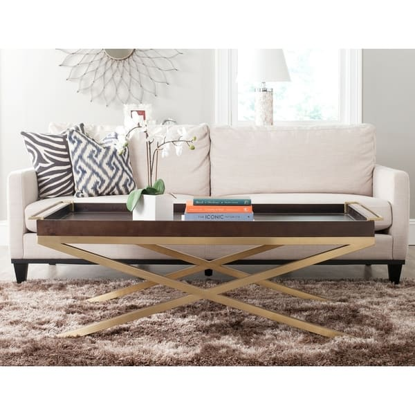 Safavieh Couture Rivington Coffee Table Brown And