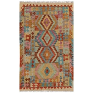 Link to Handmade One-of-a-Kind Wool Kilim (Afghanistan) - 3'3 x 5'1 Similar Items in Transitional Rugs