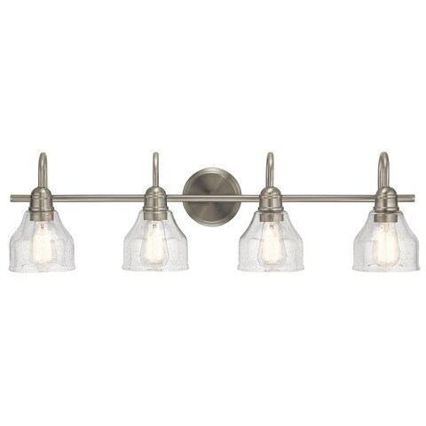 Kichler Lighting Avery Collection 4-light Brushed Nickel Bath/Vanity Fixture