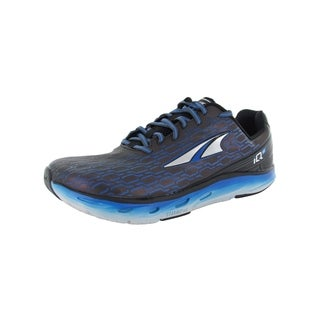 Altra Mens IQ Interactive Running Sneaker Shoes, Black Blue