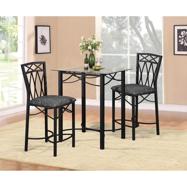Balboa Counter Height Table Stool 3 Piece Dining Set: Shop Home Source Emily 3 Piece Dinette Set With Counter