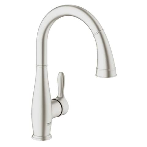 Grohe Parkfield Single-Handle Pull-Down Sprayer Kitchen Faucet with Dual Spray in SuperSteel InfinityFinish