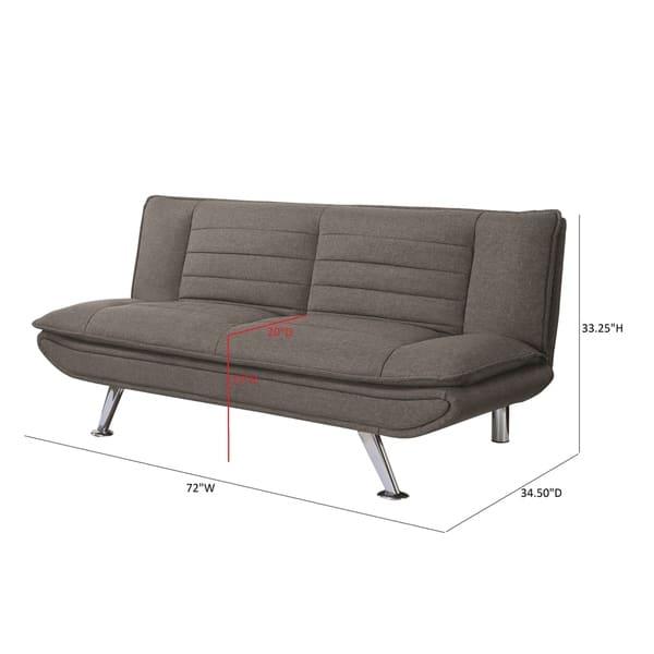 Astounding Shop Casual Grey Sofa Bed 72 X 34 50 X 33 25 Free Ibusinesslaw Wood Chair Design Ideas Ibusinesslaworg