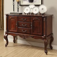 Home Source Brown Cherry-finished Wooden Antique-inspired Server