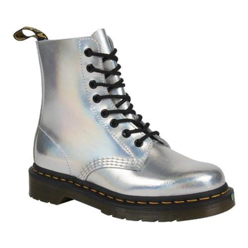 Dr. Martens PASCAL 8 EYE BOOT - Lace-up boots - silver/lazer reflective/metallic 4nlbv7ZA