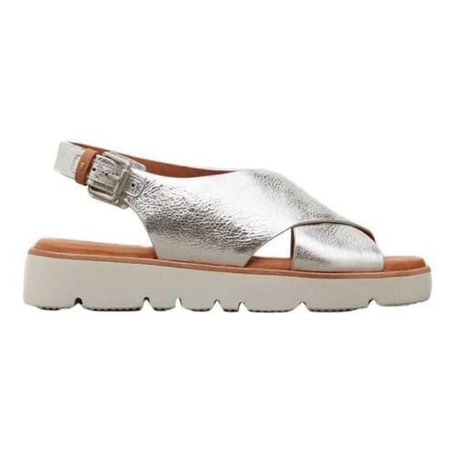 70d46ec0e8e Shop Women s Gentle Souls Kiki Platform Sandal Silver Leather - Free  Shipping Today - Overstock - 18910713