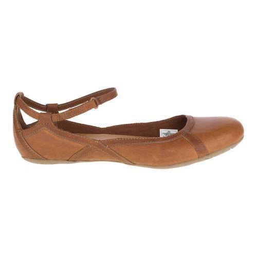 08787ee1 Women's Merrell Ember Bluff Strap Ballet Flat Merrell Oak Full Grain  Leather | Overstock.com Shopping - The Best Deals on Slip-ons
