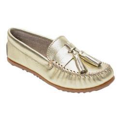 Women's Minnetonka Grace Moccasin Gold Leather