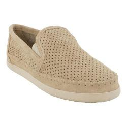 Women's Minnetonka Pacific Perforated Slip On Stone Suede