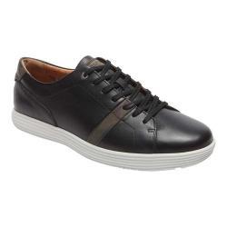 Men's Rockport Thurston Lace Up Sneaker Black Leather/Nubuck Leather