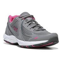 Women's Ryka Dash 3 Walking Shoe Frost Grey/Steel Grey/Athena Pink/Cool Mist Grey