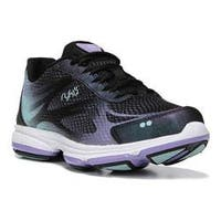 Women's Ryka Devotion Plus 2 Cross Trainer Black/Purple Ice/Eggshell Blue