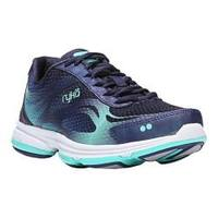 Women's Ryka Devotion Plus 2 Cross Trainer Navy/Teal Mesh