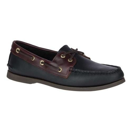 f2c63c7b1d5e Shop Men s Sperry Top-Sider Authentic Original Boat Shoe Black Amaretto -  Free Shipping Today - Overstock - 18911516