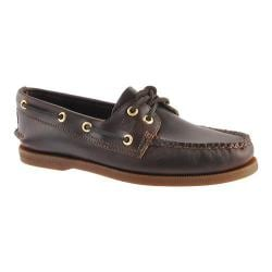 SPERRY Mens Topsider Authentic Original 2 Eye Boat Shoe in AMARETTO LEATHER