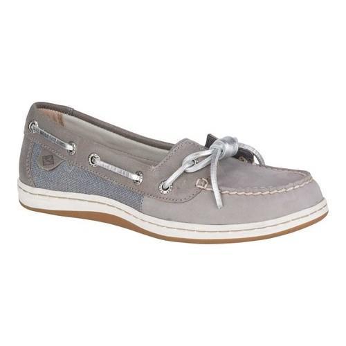 45aa9f2e0a7da Women's Sperry Top-Sider Barrelfish Boat Shoe Light Grey Leather/Textile