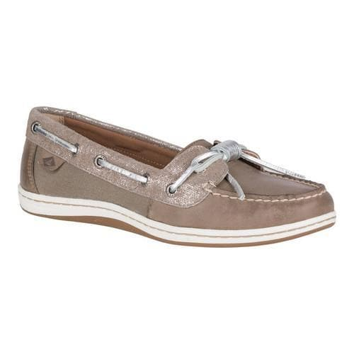 5db2d7f4961 Shop Women's Sperry Top-Sider Barrelfish Boat Shoe Taupe/Vapor Metallic  Leather - Free Shipping Today - Overstock - 18911534