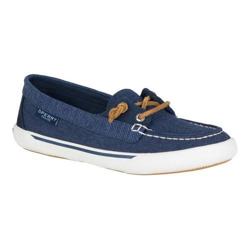 Women's Sperry Top-Sider Quest Rhythm Boat Shoe Navy Canvas