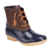 Girls' Sperry Top-Sider Saltwater Duck Boot Navy Rubber/Synthetic