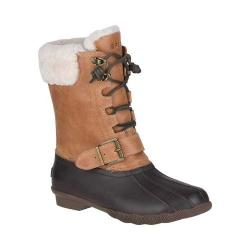 Women's Sperry Top-Sider Saltwater Misty Thinsulate Duck Boot Brown/Natural Rubber/Leather/Fur