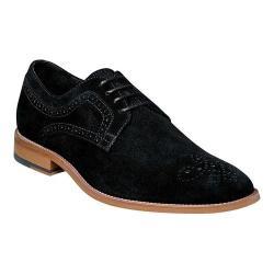 Men's Stacy Adams Dunstan Plain Toe Derby 25094 Black Suede