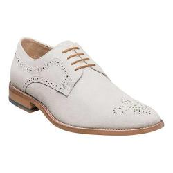 Men's Stacy Adams Dunstan Plain Toe Derby 25094 Chalk Suede
