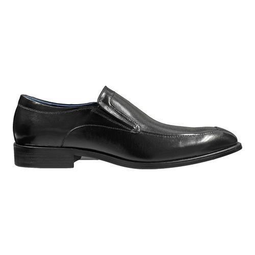 Men's Stacy Adams Jace Moc Toe Slip-On 25150 Black Buffalo