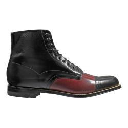 Men's Stacy Adams Madison 00015 Black/Oxblood Kidskin Leather