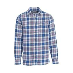 Men's Woolrich Eco Rich Indigo-Look Plaid Shirt New Royal Blue Plaid
