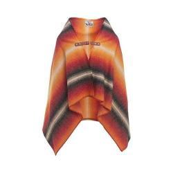 Woolrich Fireside II Wool Blanket Poncho Black Stripe