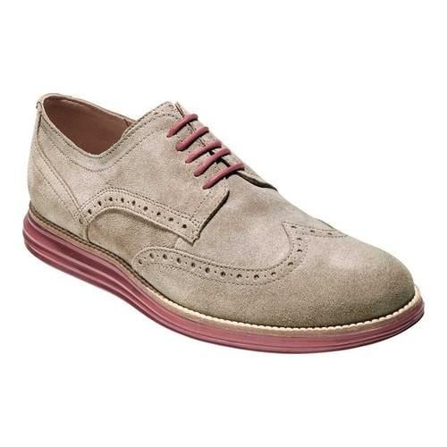 Men's Cole Haan Original Grand Shortwing Wingtip Derby Sea Otter/Sun.  Click to Zoom