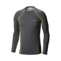 Men's Columbia Midweight Stretch Baselayer Long Sleeve Top Graphite/Acid Yellow