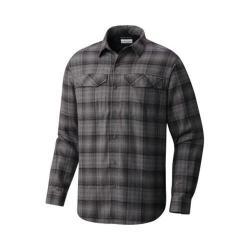 Men's Columbia Silver Ridge Long Sleeve Flannel Shirt Black