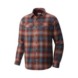 Men's Columbia Silver Ridge Long Sleeve Flannel Shirt Deep Rust