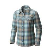 Women's Columbia Silver Ridge Long Sleeve Flannel Shirt Cloudburst Ombre Plaid