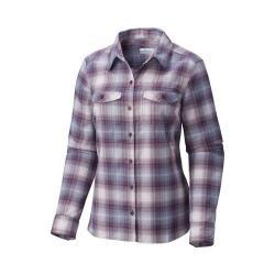 Women's Columbia Silver Ridge Long Sleeve Flannel Shirt Dusty Purple Ombre Plaid