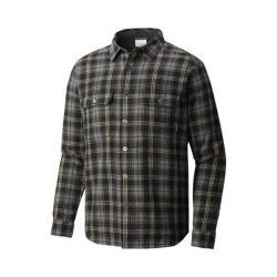 Men's Columbia Windward III Overshirt Black/Grey/Tan Plaid