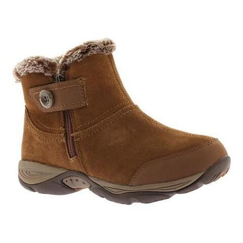 Women's Easy Spirit Eliria Ankle Boot Dark Natural Multi Suede