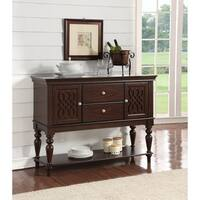 Home Source Lilith Walnut Finish Wood Server Table