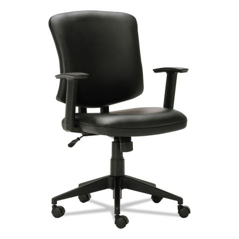 Alera Everyday Task Office Chair, Black Leather
