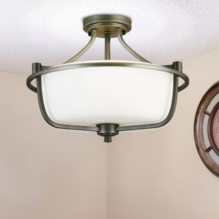 Eglo Mayview 3-Light Semi-Flush Ceiling Light in Graphite