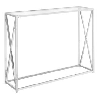 "Accent Table - 42""L - Tempered Glass"