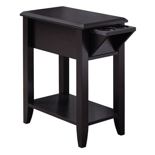 """Accent Table - 24""""H With A Glass Holder"""