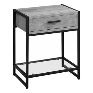 """Accent Table - 22""""H  Tempered Glass"""