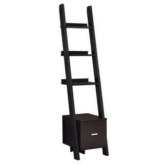 """Bookcase - 69""""H - Ladder W/ Storage Drawer"""