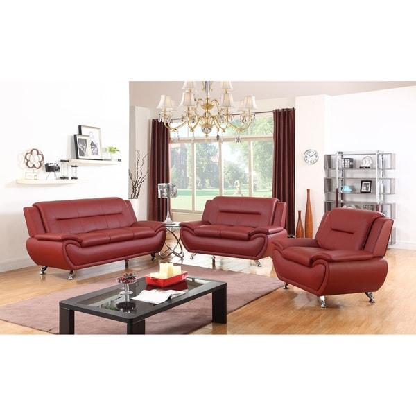 Shop Golden Coast Furniture Simple Modern Faux Leather 3