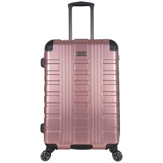 """Kenneth Cole Reaction Scotts Corner 24"""" Lightweight Hardside PET Expandable 8-Wheel Spinner Checked Luggage With TSA Lock (Option: rose gold)"""