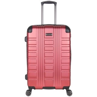 """Kenneth Cole Reaction Scotts Corner 24"""" Lightweight Hardside PET Expandable 8-Wheel Spinner Checked Luggage With TSA Lock (Option: Metallic Red)"""