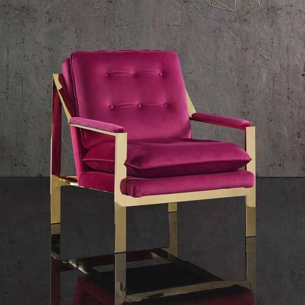 Cool Shop Silver Orchid Odette Chrome Accent Chair Free Creativecarmelina Interior Chair Design Creativecarmelinacom