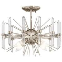Kichler Lighting Eris Collection 4-light Polished Nickel Semi-Flush Mount